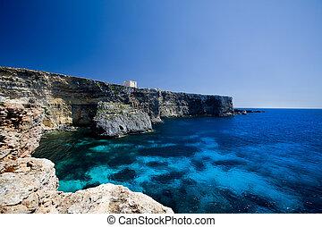 St Mary\\\'s Bay - Saint Mary\\\'s bay at Comino island,...