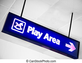Play Area - A play area sign