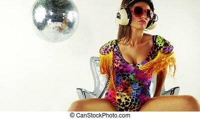 beautiful professional gogo dancer, Adriana Cristescu studio...