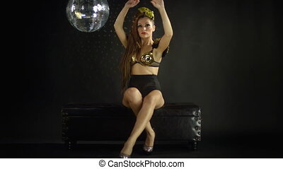 beautiful professional gogo dancer, Adriana Cristescu studio...