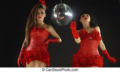 beautiful professional gogo dancing sisters, Anda and...