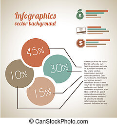economic Infographics over vintage background vector...