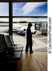 Airport Terminal Laptop