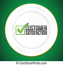 food customer satisfaction guaranty illustration design over...