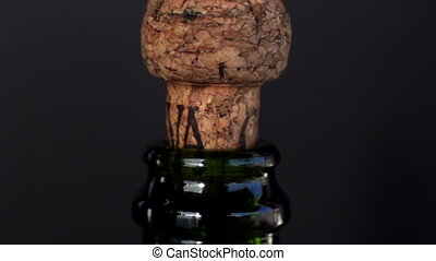 a champagne cork being popper filmed in super slow motion with the sony FS700 high speed camera