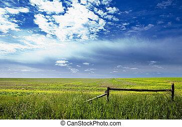 Prairie Landscape - A saskatchewan prairie landscape with...