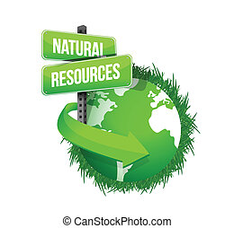 natural resources concept illustration design over white