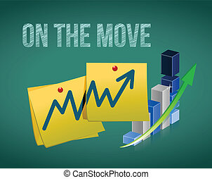 business in the move concept illustration