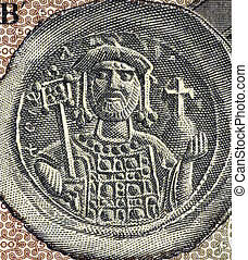 Justinian I (482-565) on 500 Drachmai 1953 Banknote from...