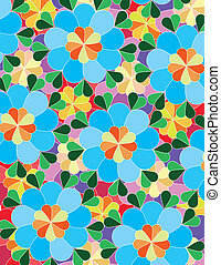 Background made from colorful illustrated flowers