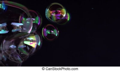 abstract bubbles shot in super slow motion with the sony...