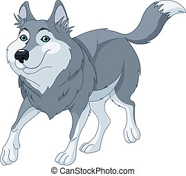 Cartoon wolf - Illustration o cute cartoon wolf running