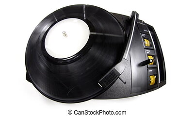 old retro vinyl turntable