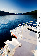Luxury House Boat - A slide off a luxury house boat into a...