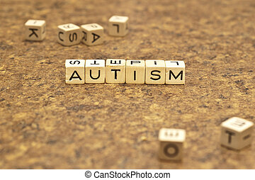 An Autism title - The word autism is spelled with game...