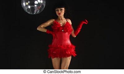 beautiful professional gogo dancer, Anda Cristescu studio...