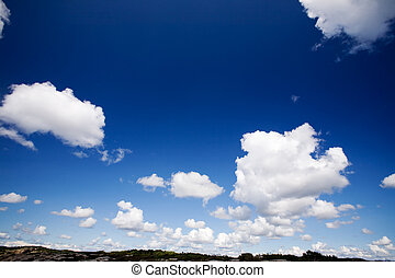 Sky Cloud Background - A cloud background with cumulus...