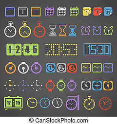 Different color measuring stuff vector collection