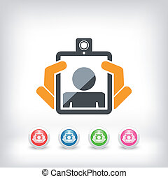 Webcam tablet icon