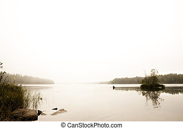 Quiet Lake - A quiet calm lake with fog