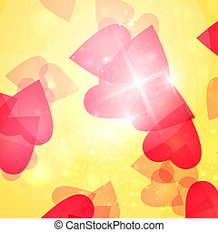 Valentines Hearts background, vector illustration eps10
