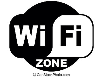 wifi internet free - wifi free internet zone on a white...