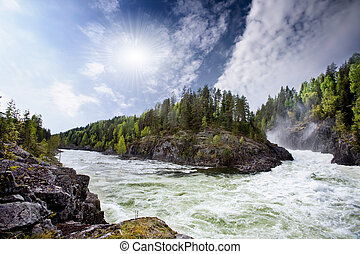 River Rapids - A nature landscape of river rapids in Norway