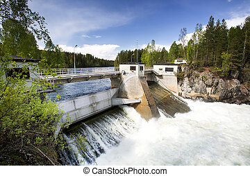 Hydro Power - A hydro electric plant on a river