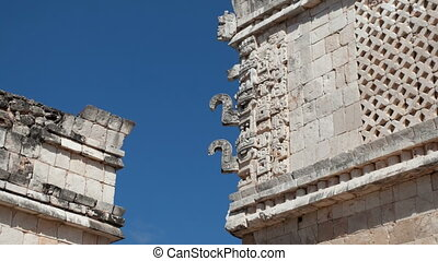 timelapse of the mayan ruins at uxmal, mexico. the mayans...