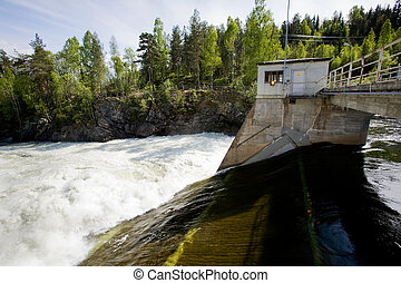 Hydro Electric - A hydro electric plant on a river
