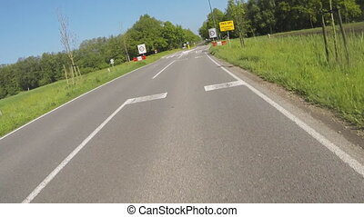 Actioncam: driving a motorcycle