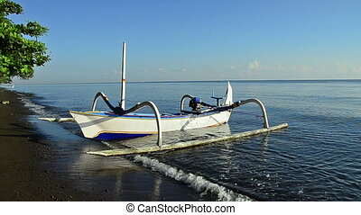 boat of a fisherman in Bali called Jukung
