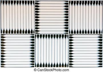 ventilation grilles - Detail of a soffit vent