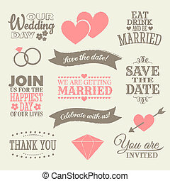 Wedding Design Elements - A set of wedding design elements...