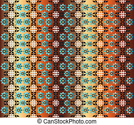 seamless pattern version - studied traditional oriental...