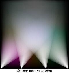spotlights - Colorful spotlights lighting up