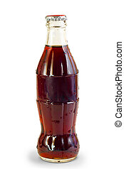 coke bottle isolated on a white background
