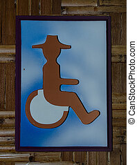 Sign of public restroom for handicapped