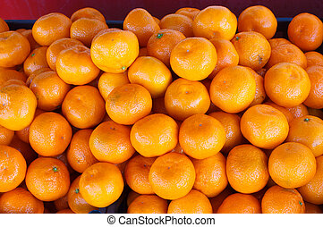 group tangerines yellow background - tangerines group yellow...
