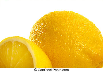 Lemon macro isolated