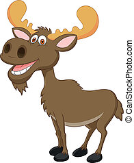 Moose cartoon - Vector illustration of Moose cartoon
