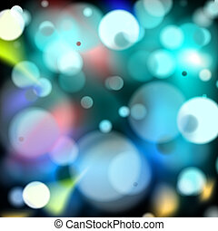 disco lights - multi coloured disco lights on a black...