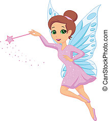 Cute fairy cartoon - Vector illustration of Cute fairy...