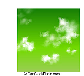 Vector green sky background