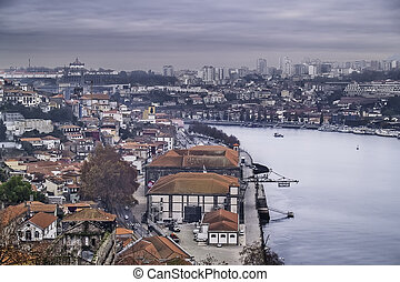 View of Oporto - Oporto, December 2012 View Douro river with...