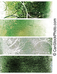 natural grunge green - Green and white natural grunge...