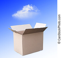 transition of sale software concept - transition from boxed...