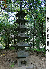 Japanese Pagoda Statue - Close up of a japanese pagoda...