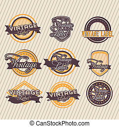 Vintage label over grunge background vector illustration