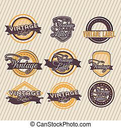 Vintage label over grunge background vector illustration